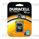 Minneskort Duracell 16GB 2 In One Micro SDHC CL4
