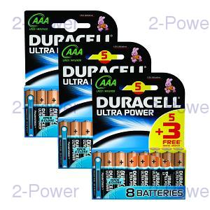 Duracell Ultra Power AAA 3 x MX2400B5+3