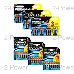Duracell Ultra Power AA/AAA 3 x 5+3 Pack