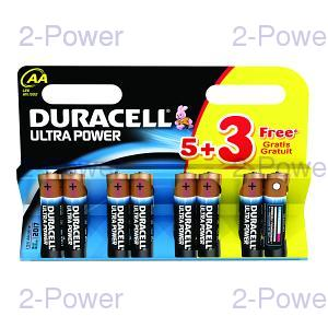 Duracell Ultra Power AA 5 + 3 Free Pack
