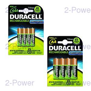 Duracell PreCharged AA / AAA 4 Pack